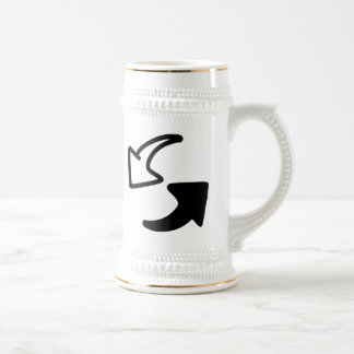Flechas blancos y negros jarra de cerveza