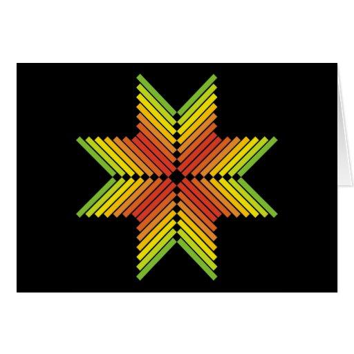 flechas coloridas anaranjadas rojas del verde amar felicitaciones