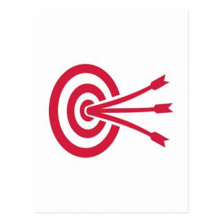 Flechas de la blanco del tiro al arco tarjeta postal