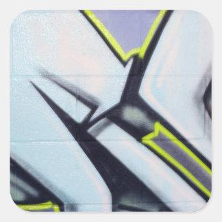 Flechas de la pintada de la calle pegatina cuadrada