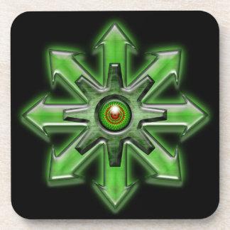 Flechas del caos - verde posavasos de bebida