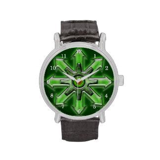 Flechas del caos - verde reloj de mano