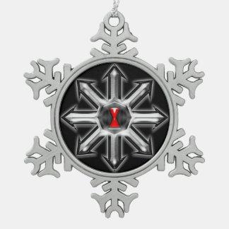 Flechas del caos - viuda negra adorno de peltre en forma de copo de nieve