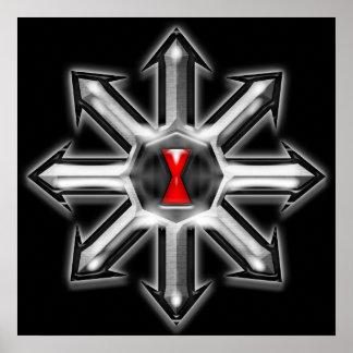 Flechas del caos - viuda negra póster