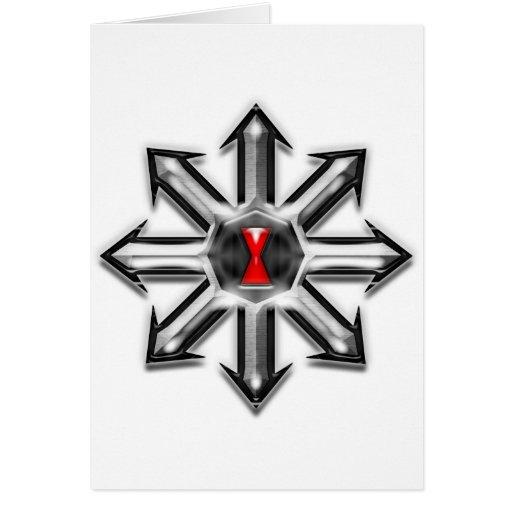 Flechas del caos - viuda negra tarjeta de felicitación