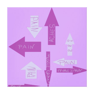 Flechas dolorosas lona envuelta para galerias