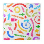 Flechas garabateadas coloridas azulejos ceramicos