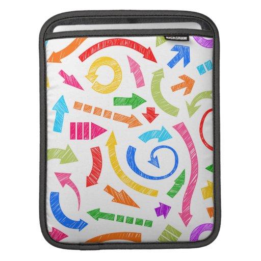 Flechas garabateadas coloridas mangas de iPad