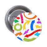 Flechas garabateadas coloridas pin