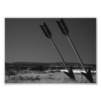 Flechas gemelas arte fotográfico