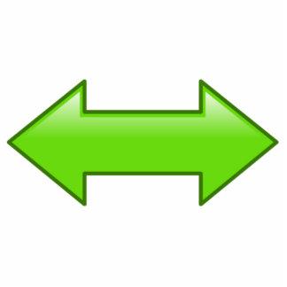 Flechas izquierdas o derechas esculturas fotográficas