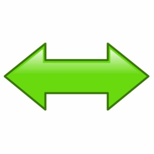 Flechas izquierdas o derechas fotoescultura vertical