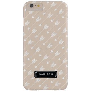 Flechas tribales beige de lino elegantes funda para iPhone 6 plus barely there