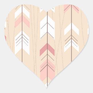 Flechas tribales pegatina de corazón personalizadas