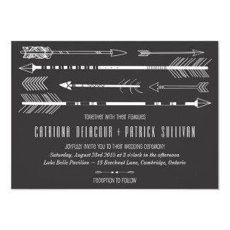 Flechas tribales que casan gris de la invitación