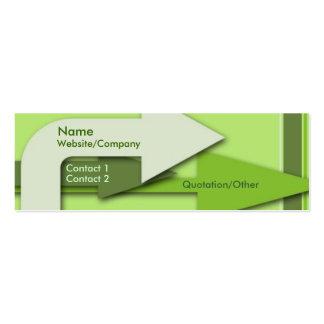 Flechas verdes tarjeta de visita