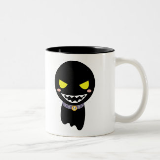 Fleck the Black Ghost Two-Tone Coffee Mug
