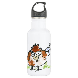 Fledgling Bird and a Dragonfly Stainless Steel Water Bottle