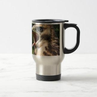 Fledgling Red Tailed Hawk Travel Mug