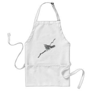 Fledgling, Sumi-e baby bird Apron
