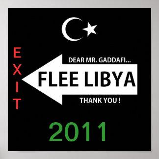 FLEE LIBYA POSTER