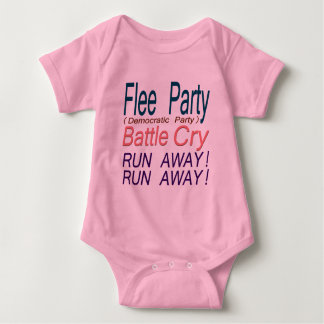 Flee Party (Democratic Party) Battle Cry_RUN AWAY! Baby Bodysuit