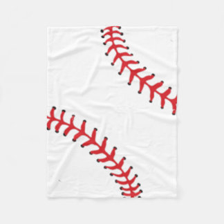Fleece Baseball Baby Blanket