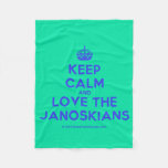 [Crown] keep calm and love the janoskians  Fleece Blanket