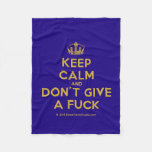 [Dancing crown] keep calm and don't give a fuck  Fleece Blanket