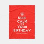 [Cupcake] keep calm its your birthday  Fleece Blanket