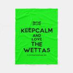 [UK Flag] keepcalm and love the wettas  Fleece Blanket