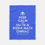 [Skull crossed bones] keep calm and du-te-n pizda matii chiriac  Fleece Blanket