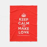 [Crown] keep calm and make lovr  Fleece Blanket