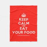 [Crown] keep calm and eat your food  Fleece Blanket