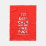 [UK Flag] keep calm and run like fuck  Fleece Blanket