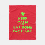 [Chef hat] keep calm and eat some pasteque  Fleece Blanket