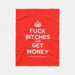 [Crown] fuck bitches and get money  Fleece Blanket
