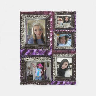 Fleece Blanket 5 Silver Frame Photo Inserts