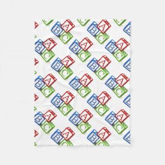 Fleece Blanket/ABC Blocks
