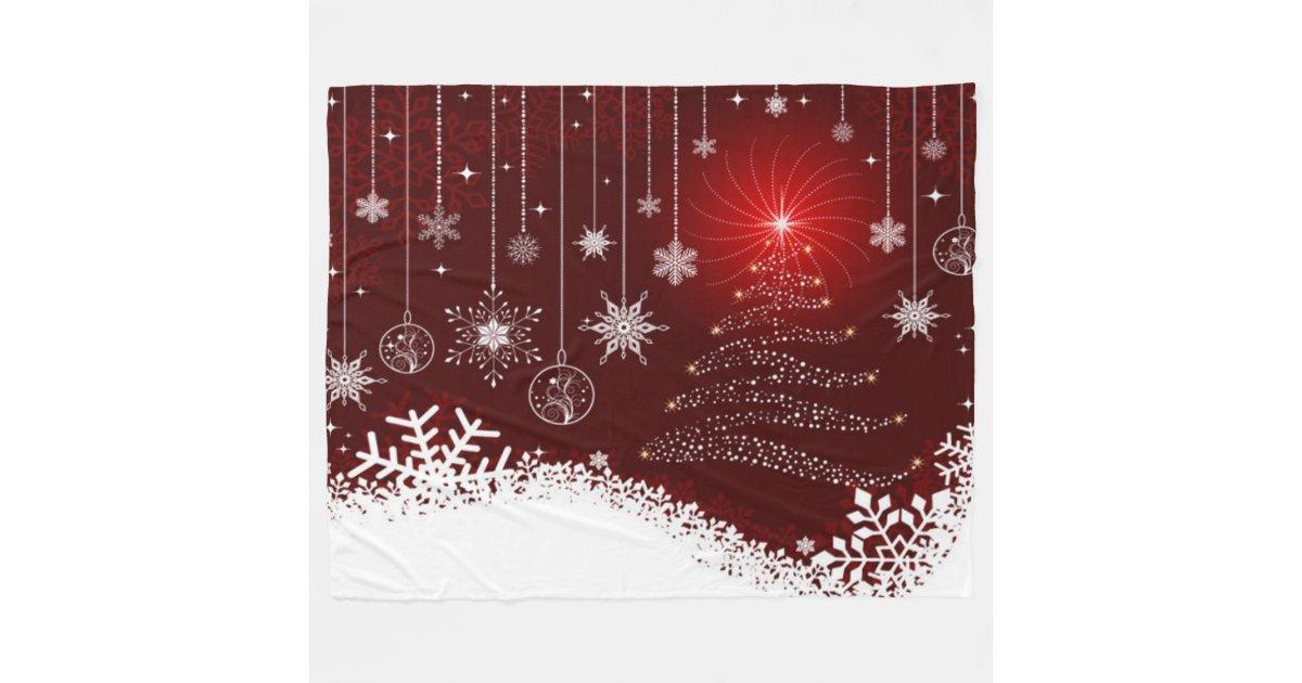 Fleece Blanket/Christmas Tree and Lights | Zazzle.com