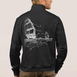 Fleece Jacket w/ Ship (Back)/Crest (Front)