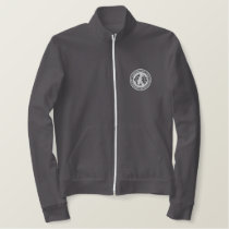 Fleece Jacket with White Logo
