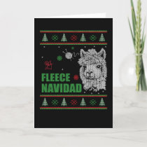 Fleece Navidad Alpaca Ugly Sweater Holiday Card