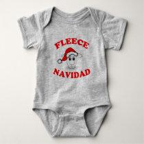 Fleece Navidad Baby Bodysuit
