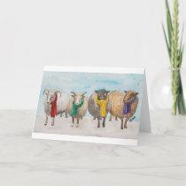 Fleece Navidad Card Blank