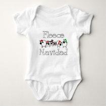 Fleece Navidad Funny Christmas Apparel Baby Bodysuit