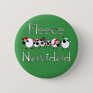 Fleece Navidad Funny Christmas Button