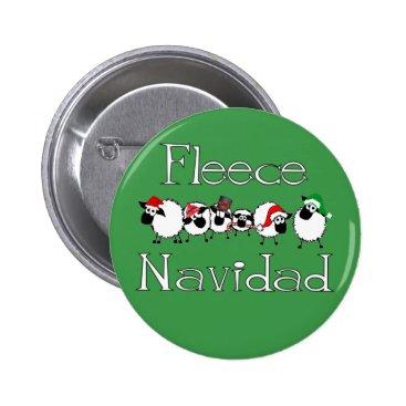 Christmas Themed Fleece Navidad Funny Christmas Button