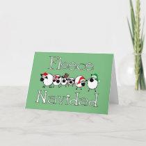 Fleece Navidad Funny Christmas Card