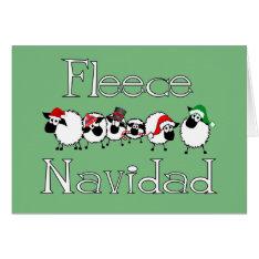 Fleece Navidad Funny Christmas Card at Zazzle